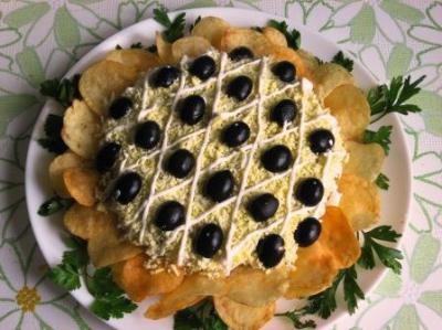Салат подсолнух с печенью трески рецепт с фото пошаговый